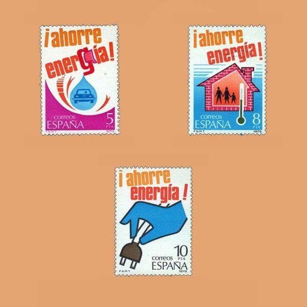 Edifil 2508/10. Serie Ahorro de Energía. **1979