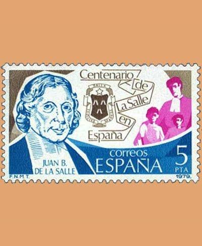Edifil 2511. Centenario de La Salle. Sello 5 pts. **1979