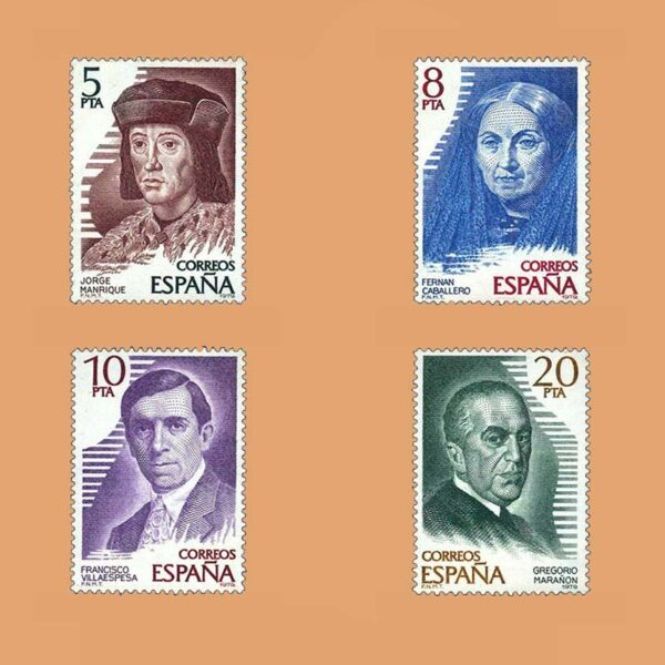 Edifil 2512/5. Serie Personajes Españoles. **1979