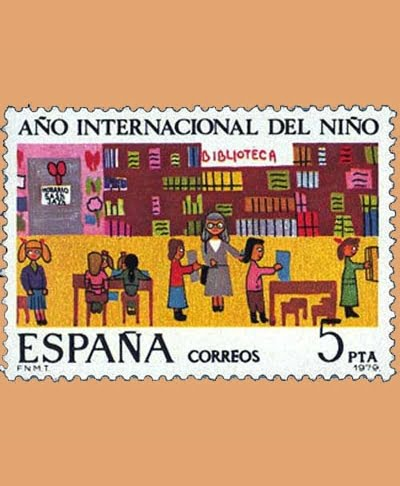 Edifil 2519. Año internacional del Niño. Sello 5 pts. **1979