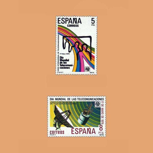 Edifil 2522/3. Serie Telecomunicaciones. **1979