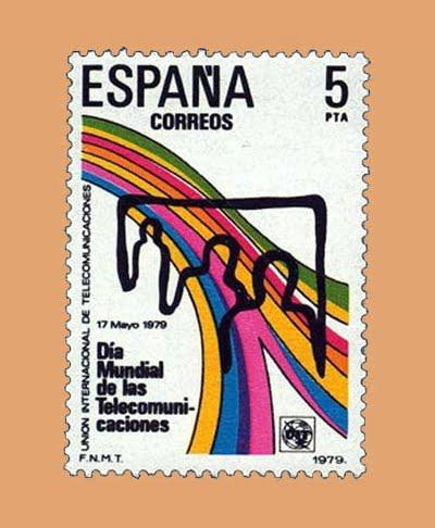 Edifil 2522. Día Telecomunicaciones. Sello 5 pts. **1979