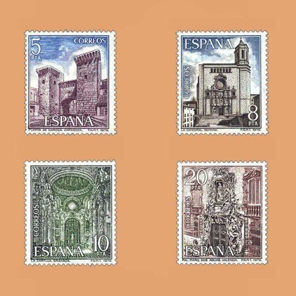 Edifil 2527/30. Serie Paisajes y Monumentos. **1979