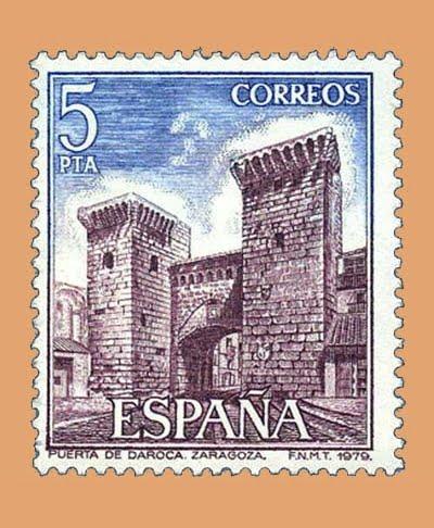 Edifil 2527. Puerta de Daroca. Sello 5 pts. **1979