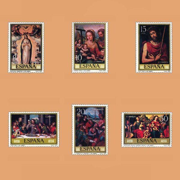 Edifil 2537/42. Serie Juan de Juanes. **1979