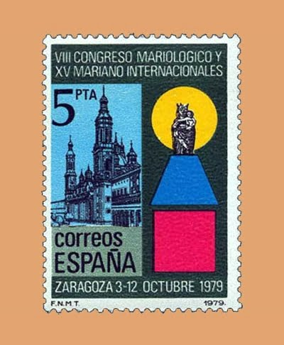 Edifil 2543. Congreso Mariológico. Sello 5 pts. **1979