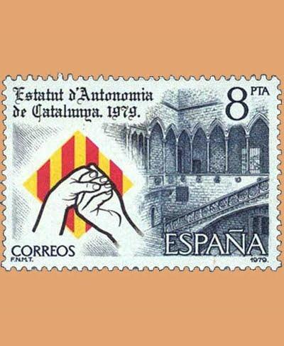 Edifil 2546. Estatuto de Catalunya. Sello 8 pts. **1979