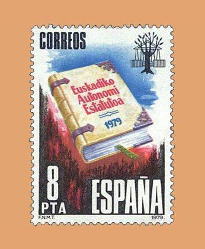 Edifil 2547. Estatuto del País Vasco. Sello 8 pts. **1979