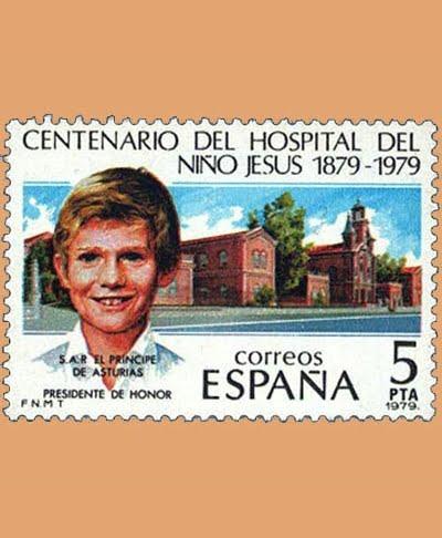 Edifil 2548. Hospital del Niño Jesús. Sello 5 pts. **1979