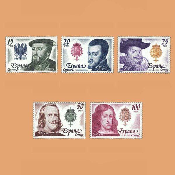 Edifil 2552/6. Serie Casa de Austria. **1979
