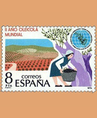 Edifil 2557. Año Oleícola Internacional. Sello 8 pts. **1979
