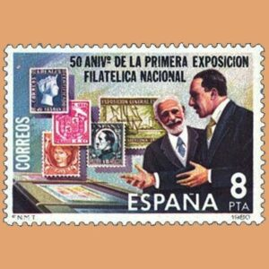 Edifil 2576. Primera Exposición Filatélica. Sello 8 pts. **1980