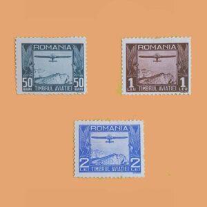 Rumanía PA11/3. Serie Aircraf. 3 valores. *1931