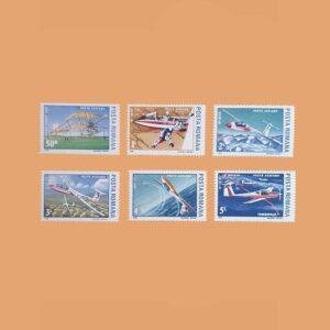 Rumanía PA301/6. Serie Planeadores Ligeros. 6 valores **1987