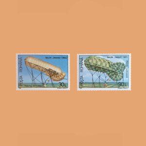 Rumanía PA313/4. Serie Aeroestatos. 2 valores **1993