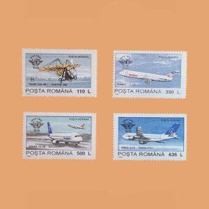 Rumanía PA315/8. Serie Aniversario de la OACI. 4 valores **1994