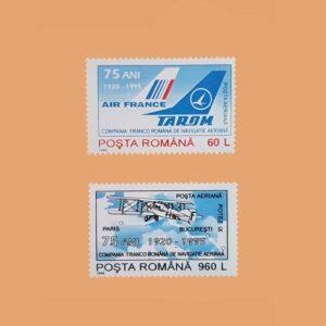 Rumanía PA319/20. Serie Compañía Franco Rumana. 2 valores **1995